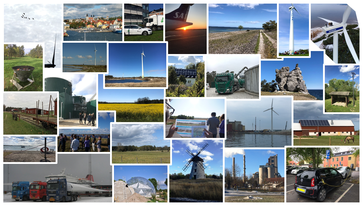 Pictures of different Gotland environments. Collage.