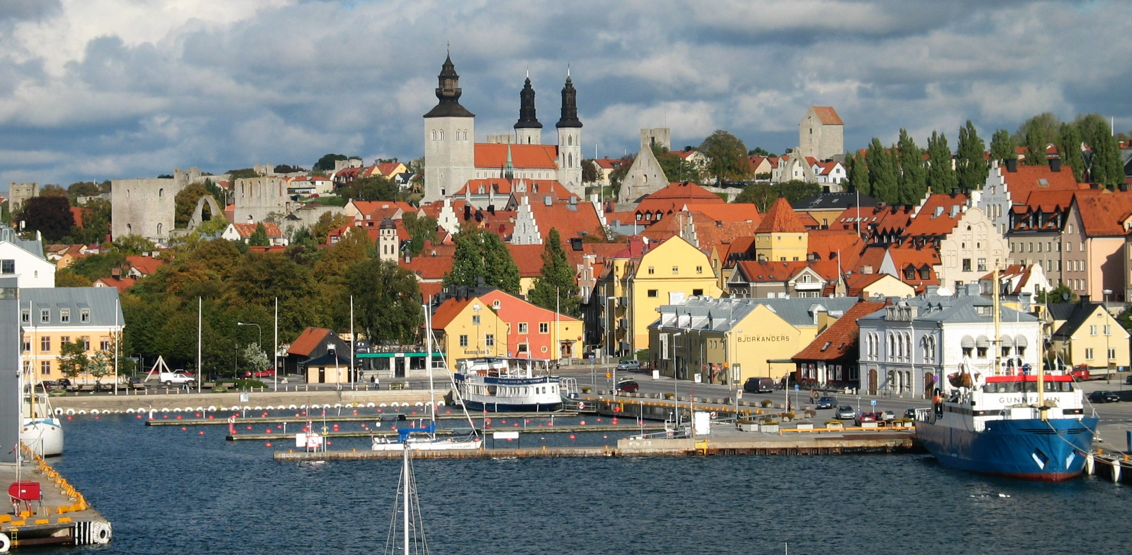View of Visby. Photo.
